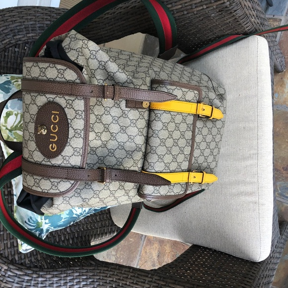 fe866c24f11f Gucci Bags | Mens Natural Soft Gg Supreme Backpack | Poshmark